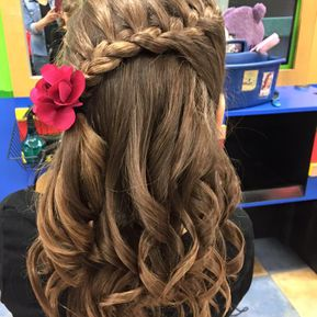 Nice braid with flower